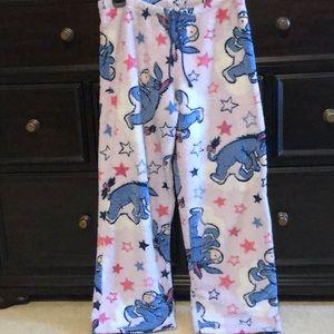 Disney plush pajama bottoms